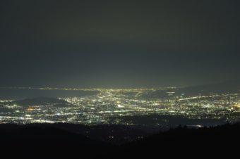 伊豆スカイラインの夜景の画像
