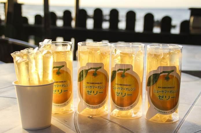 伊豆のオレンジを使ったゼリー