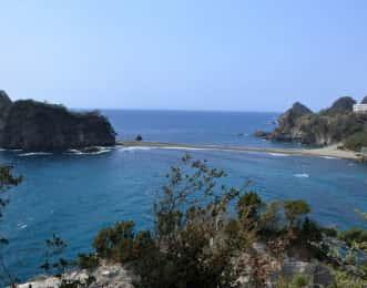 堂ヶ島のトンボロ現象