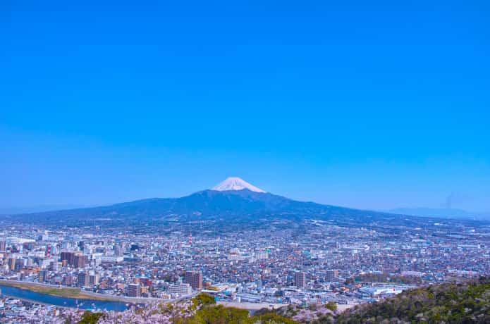 香貫山からみる 富士山
